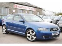 2005 Audi A3 Quattro S Line 2.0 TDI Diesel Manual 3 Door Hatchback Blue