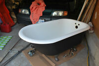 CAST IRON CLAW FOOT BATHTUB INCLUDING ACCESSORIES!!