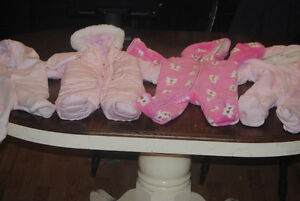 girl baby snow suits never used