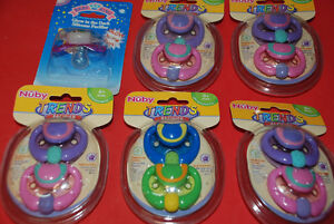 Nuby Orthodontic Pacifier, 10+1 pcs Sealed, New 6 x packs