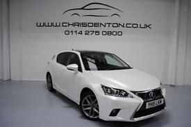 2015 LEXUS CT 200H 1.8 134BHP CVT ADVANCE PLUS, FULL LEXUS HISTORY, SAT NAV