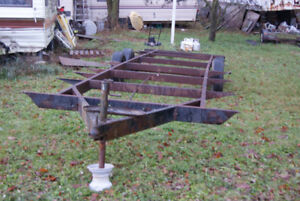 30 FOOT TANDEM AXLE FLATBED TRAILER CHASSIS FRAME