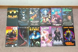 Collection of Super Hero VHS tapes