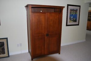 **Cherry Stain Mission Style T.V. Cabinet**