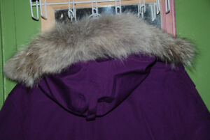 NEW CANADA GOOSE WOMAN'S PARKA PURPLE XL COYOTE RUFF AUTHENTIC