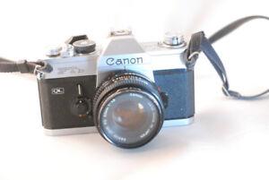 Canon FTb 35mm camera with canon FD 50 1.8 lens