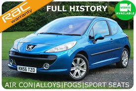 2006 Peugeot 207 1.6HDI 110BHP Sport -Electra Blue-Full History-6 Mths Warranty
