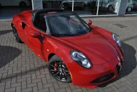 2016 Alfa Romeo 4C TBI SPIDER ** ALFA RED + LEATHER SEATS ** Petrol red Semi Aut