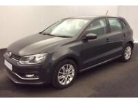 2015 GREY VW POLO 1.2 TSI 90 SE PETROL 5DR HATCH CAR FINANCE FR £33 PW