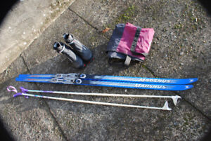 Men's Skate Ski package - used once.