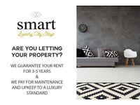 Renting your property? Guaranteed rents for up to 5 years and cover maintenance too!