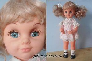 "Vintage Girl Doll 18"" Musical Baby Rock A Bye 1976 Hong Kong Kitchener / Waterloo Kitchener Area image 1"