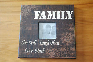 """Family"" frame, collage frame, matte picture frame"