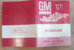 Original 1971 chevrolet Acadian chevy 2 chassis manual