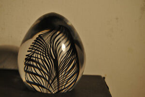 Vtg Crystal Craft Art Glass Hand Crafted Paperweight Signed Dema