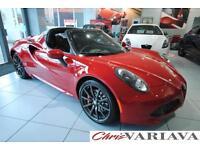 2017 Alfa Romeo 4C TBI SPIDER ** ALFA RED + UPGRADE WHEELS ** Petrol red Semi Au
