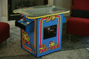 Ms. Pac-Man Multi Game Cocktail Arcade - Can play 412 Games