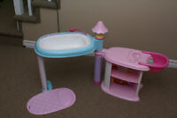 Doll's Bath and High Chair