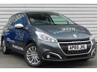 Peugeot 208 Allure 1.2 Petrol Manual 3 Door Hatchback Grey 2016