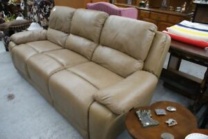 ELRAN 3 SEAT ELECTRIC RECLINING LEATHER COUCH