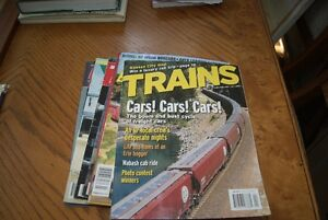 "Lot of 6 ""Trains "" and Model Railroading magazines"