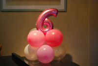 Balloon decoration for birthday parties