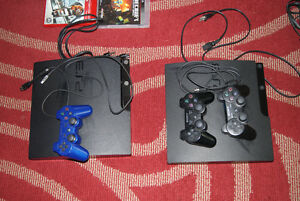 Two PS3 three controllers and 25 games West Island Greater Montréal image 2