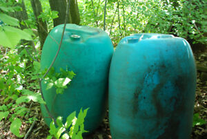 Plastic barrels- 40 gallon with plugs