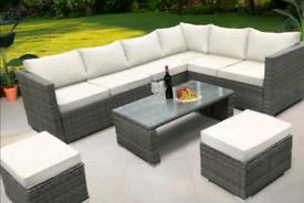 New Rattan Garden Furniture Full Set includes Cushions..