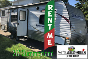 Travel Trailer Rental for The Job Site
