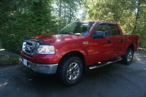 2007 FORD  F150 XLT   4X4  crewcab-short box