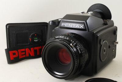 Pentax 645 Medium Format Camera w/ SMC 75mm f2.8 LS Lens, 2 x120 Film Back #278