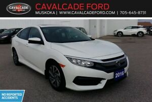 2016 Honda Civic Sedan EX CVT with moonroof, heated front seats!