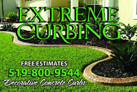 DECORATIVE CONCRETE CURBING & LANDSCAPING
