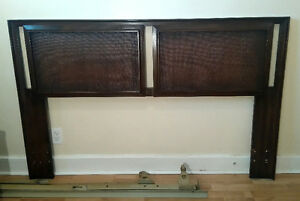 Mid Century Double / Queen Sized Wood Headboard