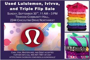 Used Lululemon, Ivivva and Triple Flip Sale Sept 30th