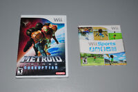 Nintendo Wii Games, Wii Sports, Metroid Prime 3 Corruption