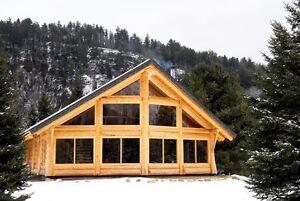 Construction maison en bois rond