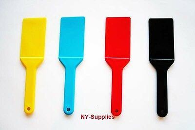 4pc Colored Ink Spatulas / Knives Used for Multi Color Offset & Screen Printing