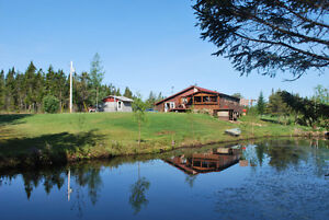Log Home/Hobby Farm, Pond, Stable, Water View/Access, WoodPoint