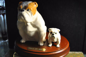 Ceramic Statue of Two Dogs