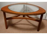 Mid Century Nathan Triangular Astro Round Retro Teak Coffee Table