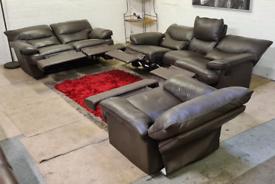Italian Leather 3+2+1 - Recliner Leather Sofa Set