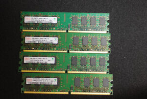8GB kit of DDR2 PC2-6400 4qty of 2gb for desktop