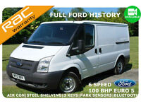 12 Ford Transit SWB Low Roof 100BHP 300 SWB-F/FORD HIST-HP AVAIL-6 SPEED-EURO5