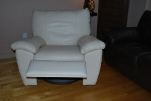 Fauteuil Inclinable tout cuir