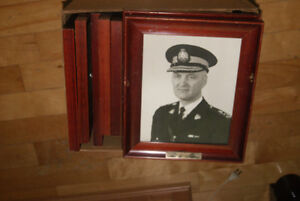 LOT OF 17 VINTAGE (1960S) FRAMED PHOTOS OF RCMP COMMISSIONERS