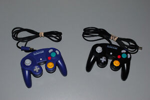 Official Nintendo Gamecube Controllers, Black and Purple