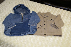 2 Baby Boys Jackets - Tommy & Children's Place Size 12/18 Months
