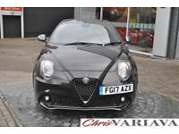 2017 Alfa Romeo Mito 1.4 TB MultiAir 170 Veloce 3dr TCT Petrol black Automatic